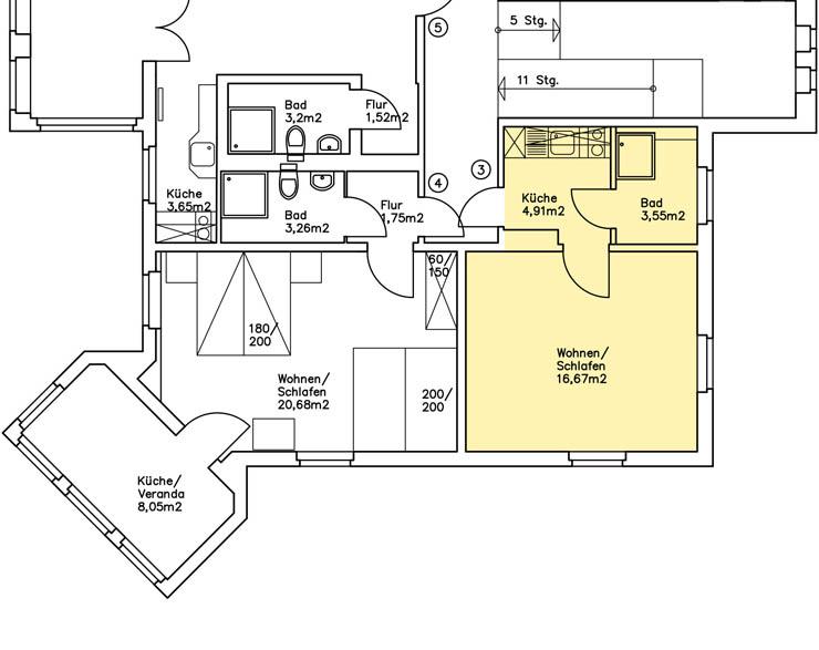 Haus Am Meer - Wohnung 3, Grundriss