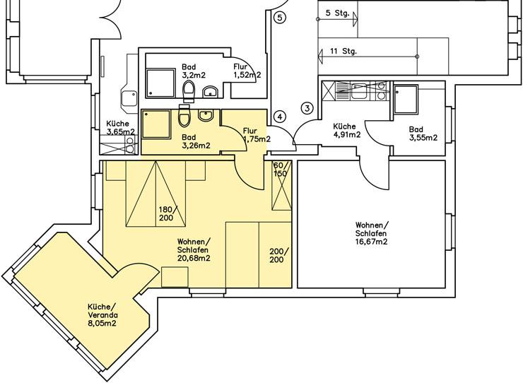 Haus Am Meer - Wohnung 4, Grundriss