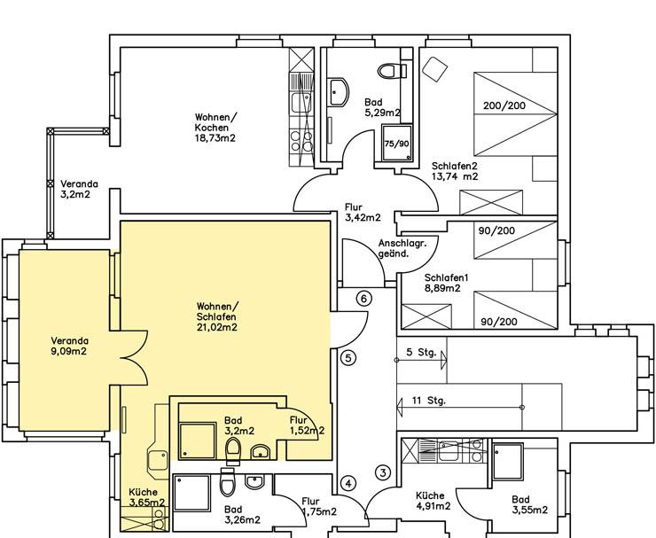 Haus Am Meer - Wohnung 5, Grundriss