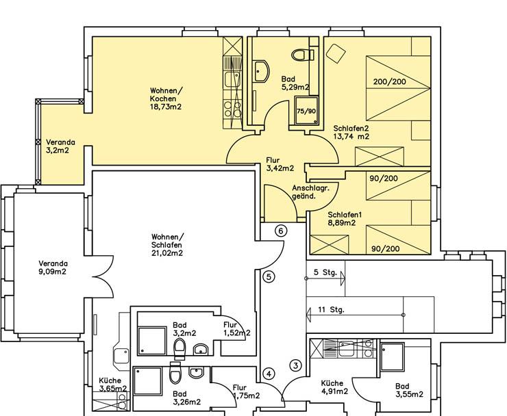 Haus Am Meer - Wohnung 6, Grundriss