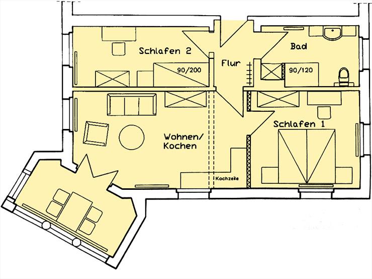 Haus Am Meer - Wohnung 7, Grundriss