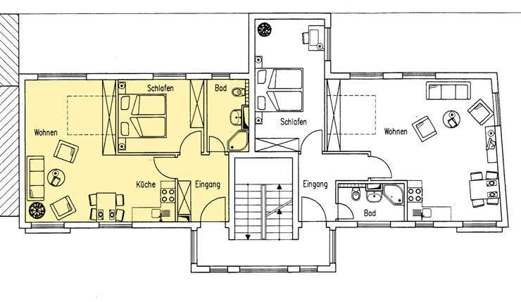 Haus Am Meer - Wohnung 8, Grundriss