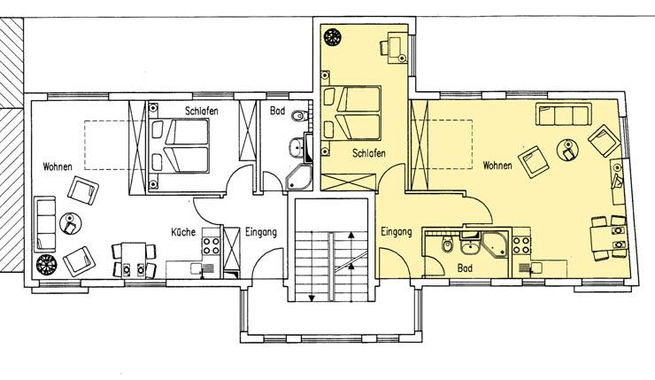 Haus Am Meer - Wohnung 9, Grundriss